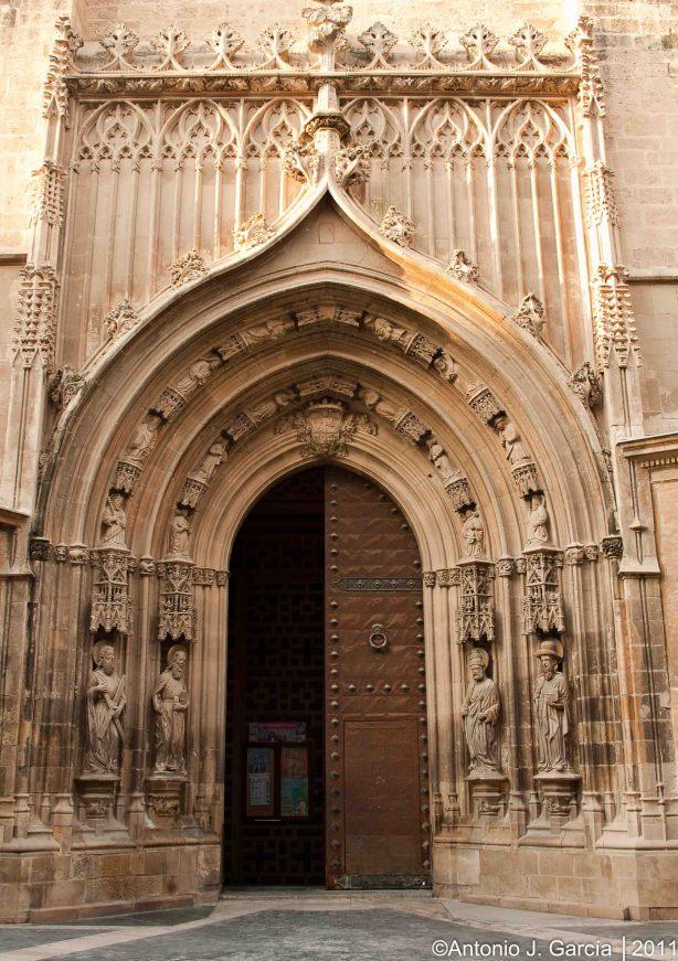 54 puerta de los ap stoles de la catedral de murcia 1463 - Puertas de interior en murcia ...