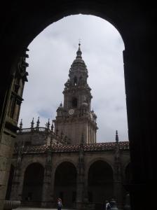 En el claustro de la Catedral de Santiago de Compostela